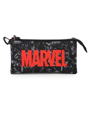 Estuche Marvel con tres compartimentos