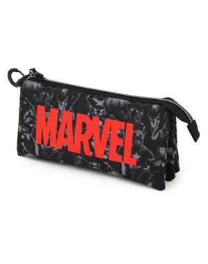 Marvel Pencil Case with Three Compartments