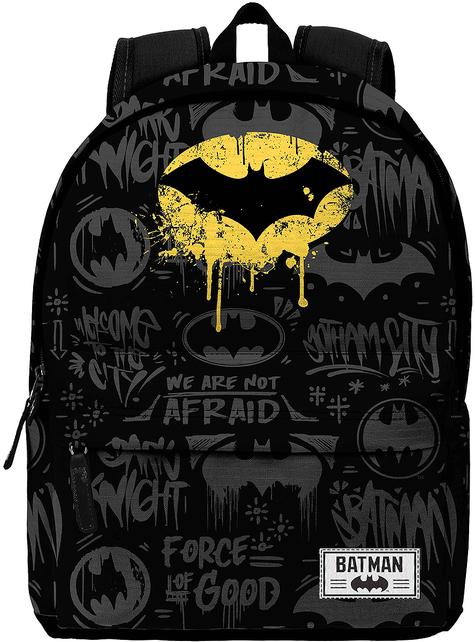 Mochila de Batman negra estampada