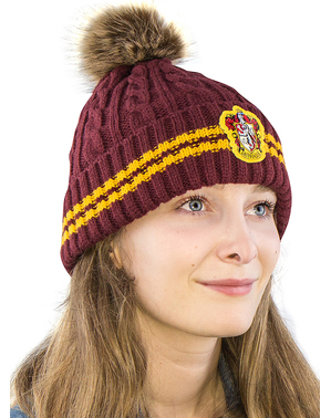 Gryffindor Beanie hat with Pompom - Harry Potter