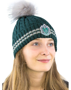 Gorro Slytherin com pompom - Harry Potter