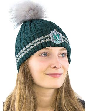 Slytherin Beanie Hat med Pompom - Harry Potter