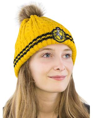 הפלפאף Beanie כובע עם פומפונים - הארי פוטר