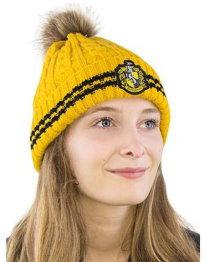 Hufflepuff Mütze mit Bommel - Harry Potter