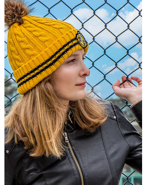 Hufflepuff Beanie hat with Pompom - Harry Potter