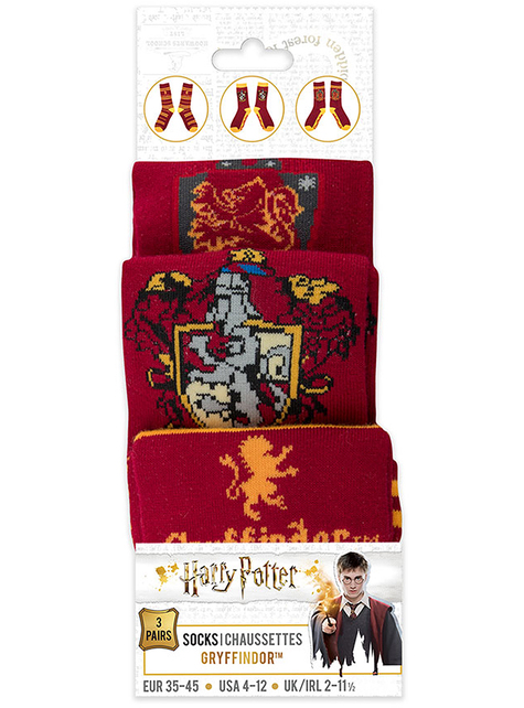 Calcetines Gryffindor (Pack 3 ud) - Harry Potter