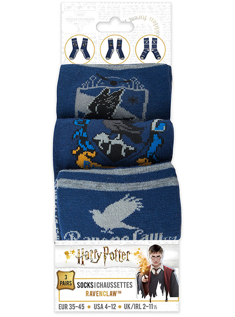 Calcetines Ravenclaw (Pack 3 ud) - Harry Potter