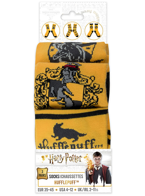 Calcetines Hufflepuff (Pack 3 ud) - Harry Potter