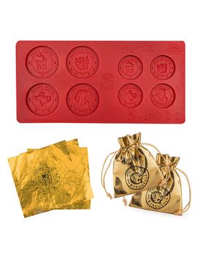 Silikonová forma na čokoládové Gringotovy mince Harry Potter