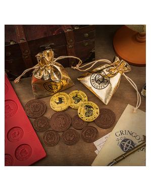 Molde de silicone de Harry Potter de moedas de Gringotts para chocolate
