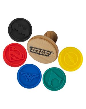 5 Justice League cookie Známky