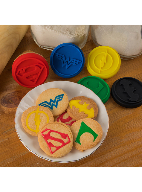 5 Justice League Cookie Stamps