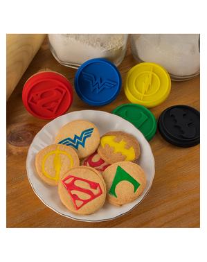 5 sellos para pastelería Liga de la Justicia