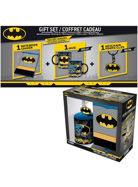 Pack regalo Batman: Taza, cuaderno, llavero