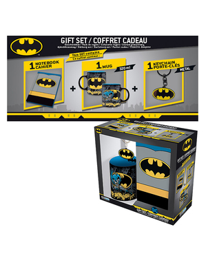 Batman Gift Set: Mug, Notebook, Keychain