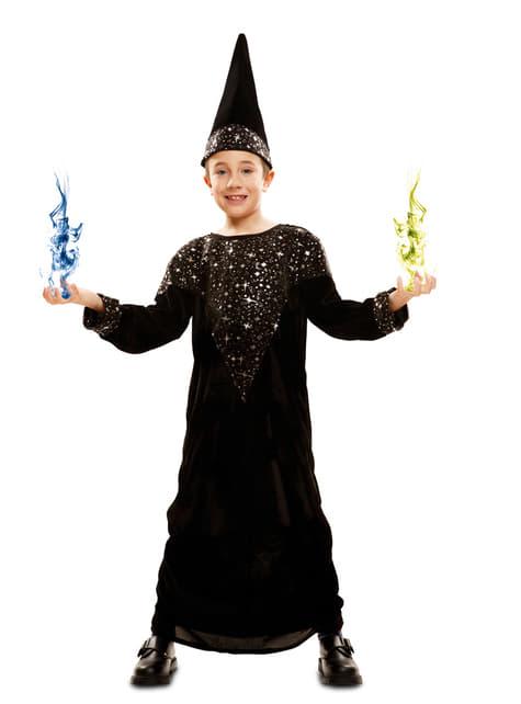 Disfraz de mago brillante para niño