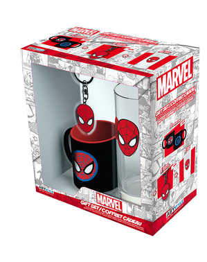 Pack regalo Spiderman: Taza, vaso, llavero - Marvel