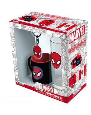 スパイダーマンギフトセット:マグカップ、グラス、キーホルダー - マーベル