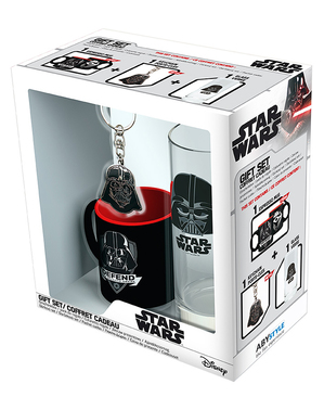 Pack presente Darth Vader: Caneca, copo, porta-chaves - Star Wars