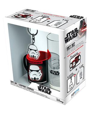 Pack presente Stormtrooper: Caneca, copo, porta-chaves - Star Wars