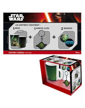 Yoda Подаръчен комплект: Чаша, Keychain, значки - Star Wars