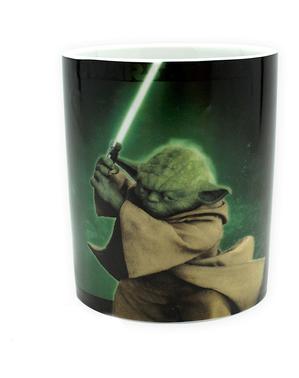 Dárkový set Yoda: hrnek, klíčenka, odznaky - Star Wars
