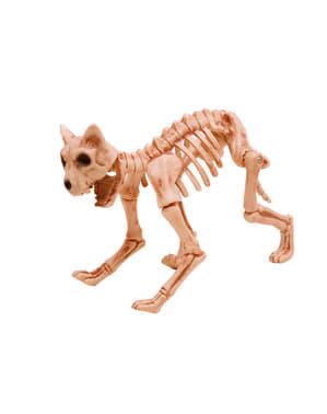 Figura decorativa scheletro gatto