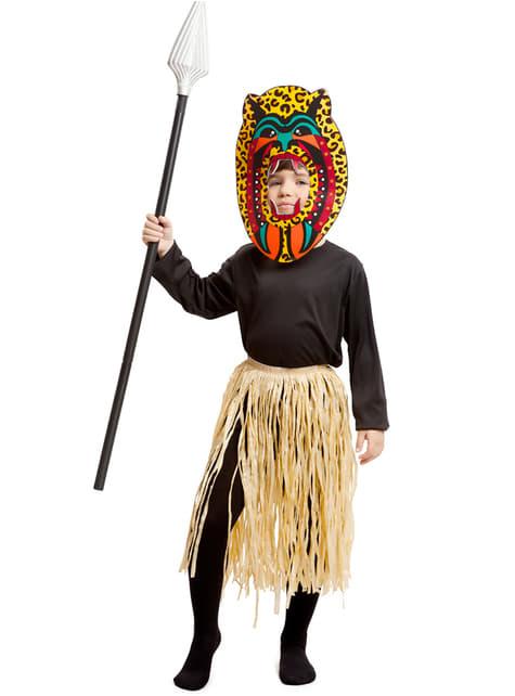 Fato de guerreiro Zulu para menino