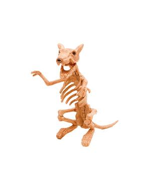 Figura decorativa de esqueleto de rata