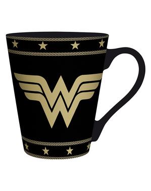 Černý hrnek Wonder Woman