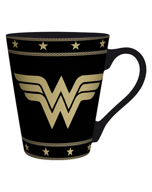 Taza Wonder Woman negra
