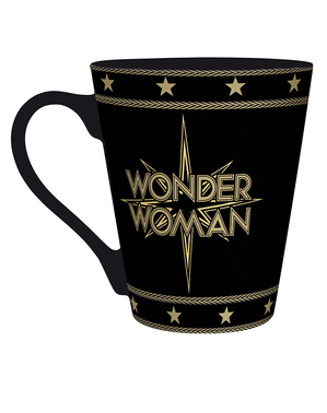 Wonder Woman mugg i svart