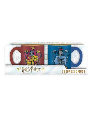 2 Gryffindor og Ravenclaw Espressokopper - Harry Potter