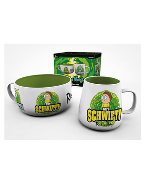 Rick & Morty Mug and Bowl Set