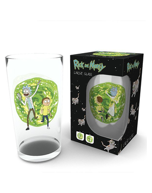 Copo Rick and Morty de cristal