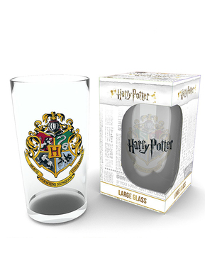 Large Hogwarts Glass - Harry Potter