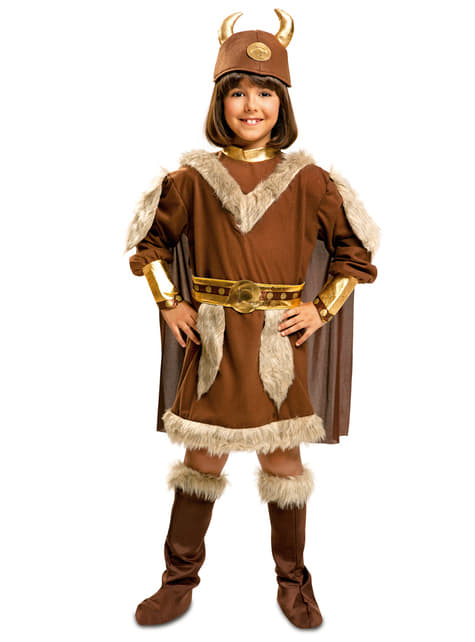 Girl's Fierce Viking Costume