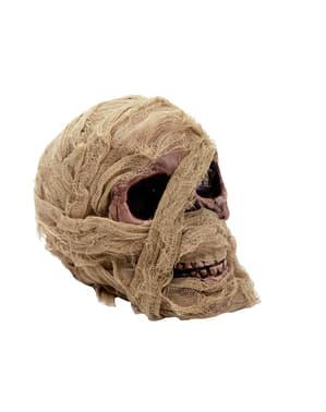 Tête de mort momie décoration