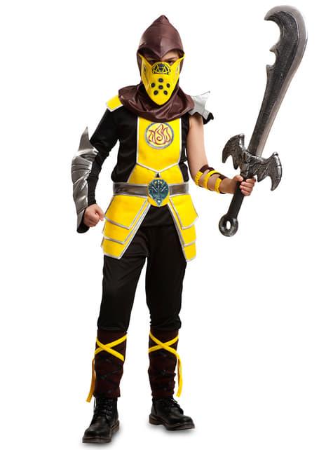 Yellow Ninja Costume for Boys