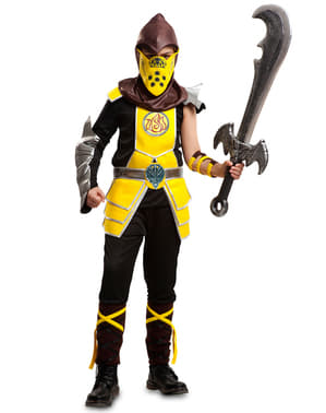 Yellow Ninja Costume for Boys