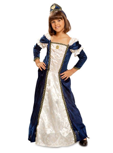 Mittelalterliche Dame Kostüm für Mädchen Deluxe