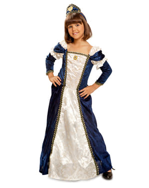 Strój średniowieczna dama dla dziewczynki