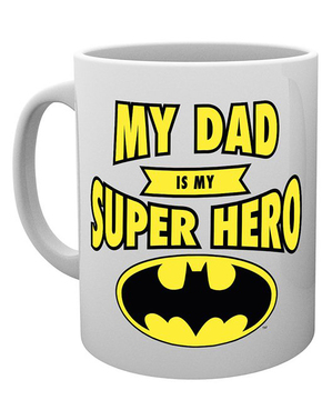"Batman Mug ""My dad is my superhero"" - DC Comics"