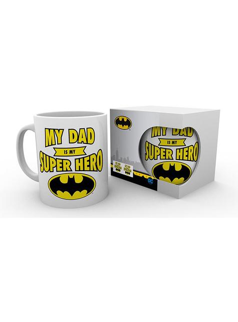 "Batman Mug ""My dad is my superhero"" - DC Comics"