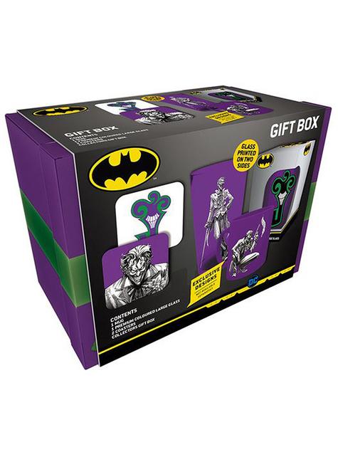 Pack regalo Joker: taza, vaso, posavasos