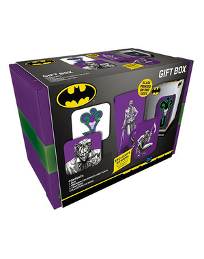 Joker Gift Set: Mug, Glass, Coaster
