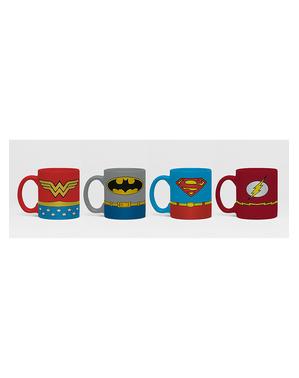 4 Liga der Gerechten Minitassen - DC Comics