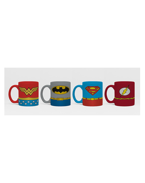 4 mini tasses Justice League - DC Comics