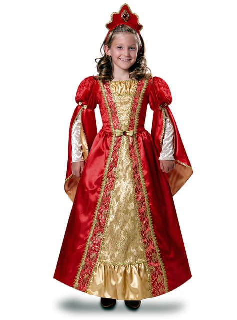 Disfraz de reina escarlata para niña