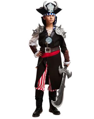 Fato de pirata demoníaco para menino